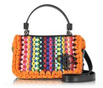Multicolor Schultertasche aus Baumwolle