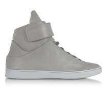 Virgilio Grey Perforated Nappa Leather High Top Men's Sneakers