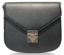 Patricia Park Avenue Medium Black Leather Shoulder Bag