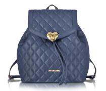 Heart Rucksack aus gestepptem Textilleder
