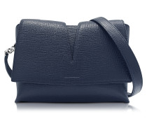 View Open Blue Cross Printed Leather Small Shoulder Bag