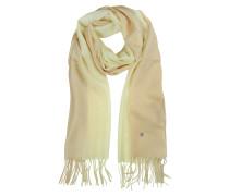 Stola aus Wolle und Kaschmir in beige/cremefarben