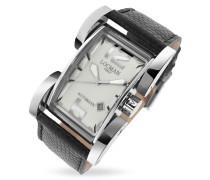 Latin Lover - Automatische Uhr in silber mit reptilgeprägtem Armband
