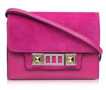 PS11 Peony Brieftasche mit Schulterriemen aus Leder und Wildleder