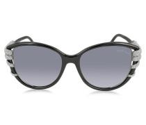 STEROPE 972S Cat Eye Sonnenbrille aus Acetat mit Kristallen