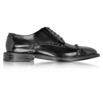 Penn Black Schnürschuhe Derby mit Nieten aus glänzendem Leder