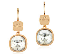 Candy - 18 KT Ohrringe aus Bronze mit Gelbgold und Weiss