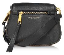 Recruit Satteltasche aus schwarzem Leder