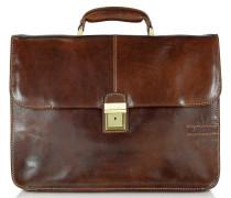 Große Aktentasche aus Leder in braun
