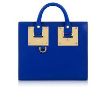 Klein Blue Saddle Leather Albion Box Tote Bag