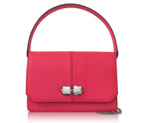 Neon Pink Leather Shoulder Bag