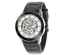 Corsa Stainless Steel Automatic Skeleton Men's Watch