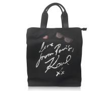 K/Paris Black Canvas Tote Bag