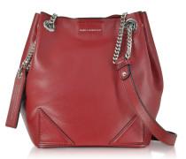 K/Slouchy Dark Pomegranates Leather Small Bucket Bag