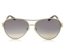 Muphrid 920S-A Piloten-Sonnenbrille aus Metall mit Kristallen