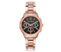 Optik Rose Gold PVD Stainless Steel Women's Chronograph Watch