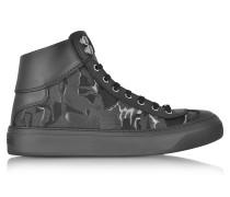 Argyle Camo Fabric Mix High Top Sneaker