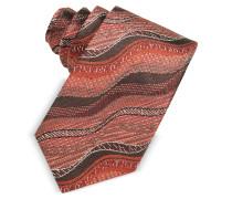 Schmale Krawatte aus Seidentwill mit Wellenmuster