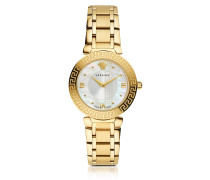 Daphnis PVD Gold Plated Women's Watch w/Greek Engraving