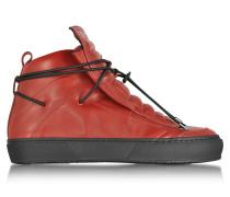 Ulisse High Top Sneaker aus Leder in rot