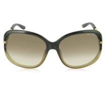 LOOP/S 7WSFM Sonnenbrille aus Acetat in dunkelbraun