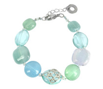 Florinda Top T Armband mit Muranoglasperlen in hellblau und grün