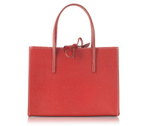 Red Small Wild Boar Leather Tote