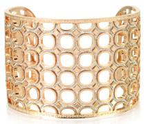 Seventies - 18 Kt Armband aus Rosegold und Bronze mit Glitzer