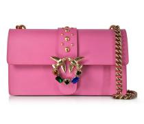 Love Jeweled Schultertasche aus Leder