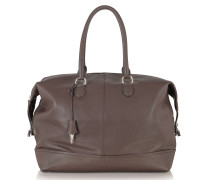 Dark Brown Leather Weekender