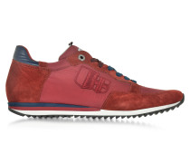 Magnifico Red Nylon and Suede Men's Sneaker