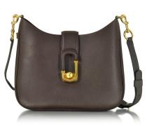 Interlock Tasche aus Leder in mahagoni
