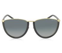 MILA/S WL4HD Damen Sonnenbrille in gold und schwarz