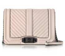 Soft Blush Quilted Leather Small Love Crossbody Bag