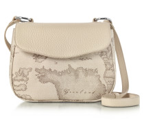 Small Geo Safari Crossbody aus Canvas und Leder