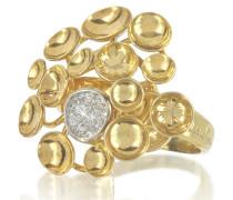 18k Bouquet Ring aus Gelbgold mit Diamanten