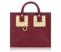 Dark Red Saddle Leather Albion Box Tote Bag