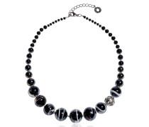 Optical 2 - Halskette aus schwarzem Muranoglas