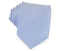 Light Blue Woven Silk Tie