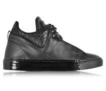 Poseidon Herren Sneaker aus schwarzem Leder