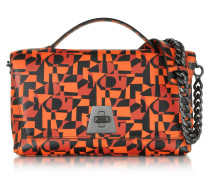 Iberica Print Tangerine Leather Small Anouk Shoulder Bag
