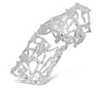 Ring mit Skelett aus silbernem Metall