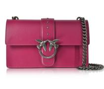 Love Simply Fuchsia Schultertasche aus Leder