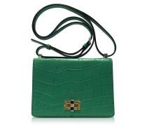 Les Crossbody Emerald Handtasche aus geprägtem Leder