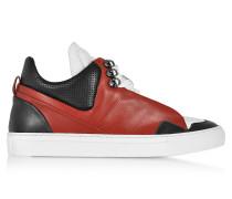 Poseidon Herren Sneaker aus Leder in schwarz und rot