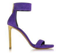 Evening Purple Sandale aus Wildleder