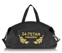 24-7 Star Icon Weekend-Reisetasche aus Canvas in schwarz