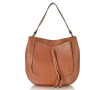 Maverick Cognac Leather Hobo Bag