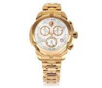 Shield Lady Rose Chronographenuhr aus Edelstahl in rosegold