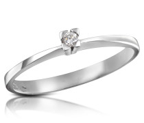 Solitaire Ring mit Diamant 0.03 ct